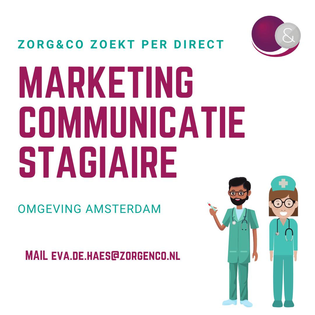 Zorg&Co zoekt een creatieve communicatie/marketing stagiair met een ondernemende mindset