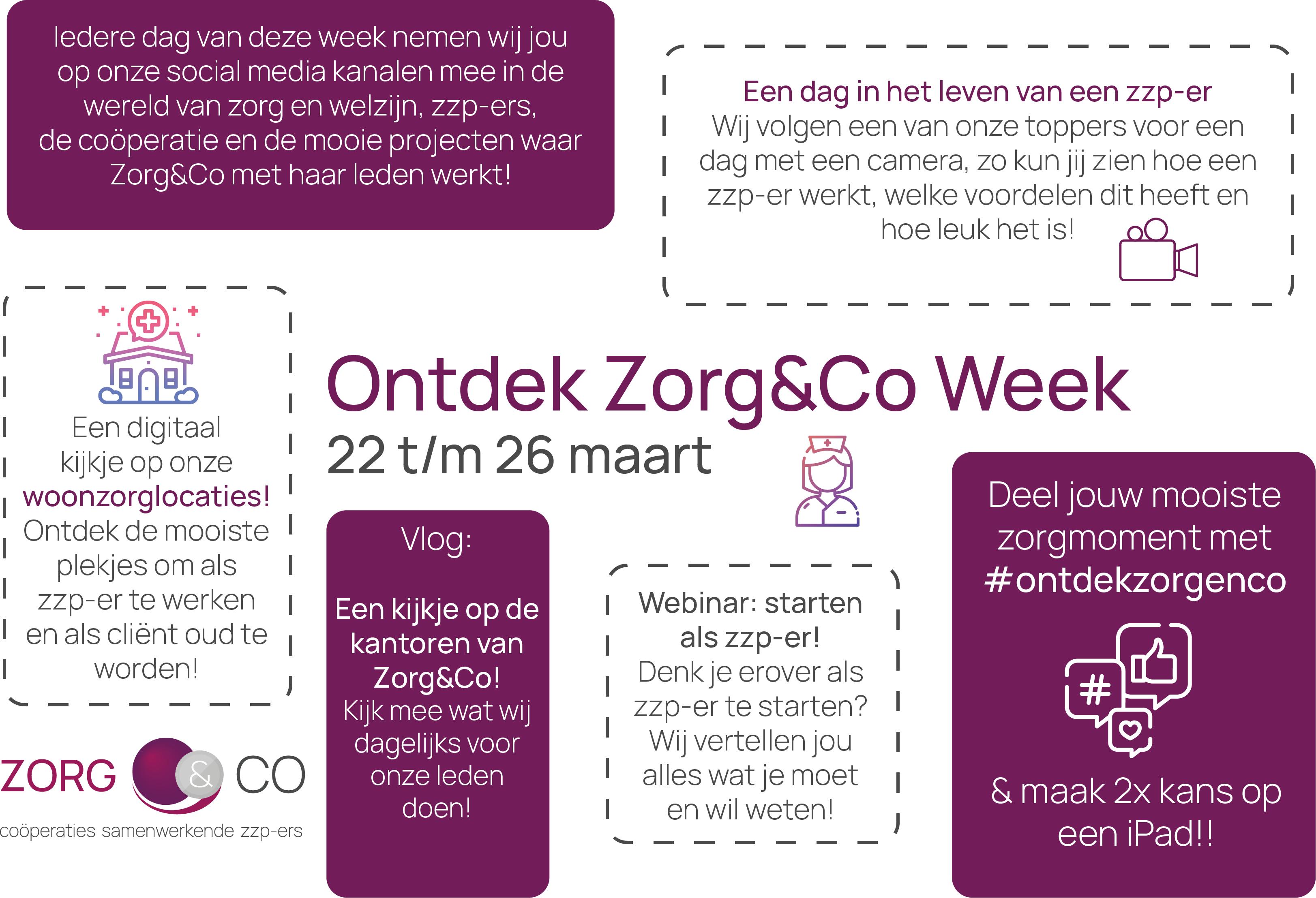 22 t/m 26 maart 2021: Ontdek Zorg&Co Week!